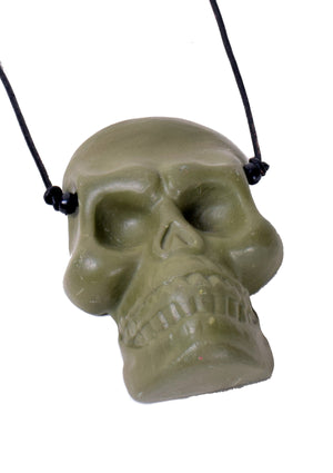 Single Skull Necklace - Green