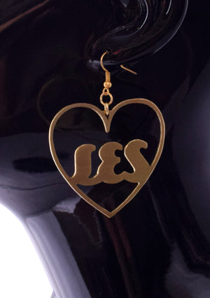 Small Personalized Heart Hoop Earrings