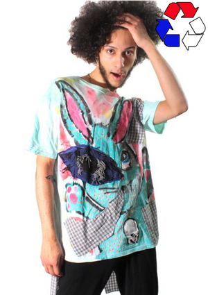 Smoking Bunny Tee with Tail