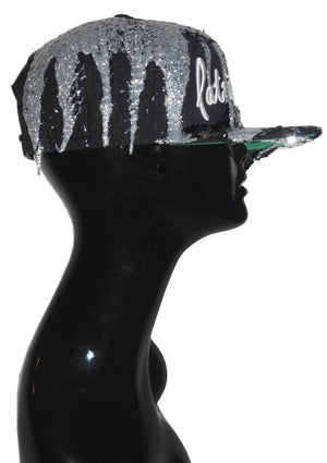 Silver Sequin Drippy PF Signature Snapback