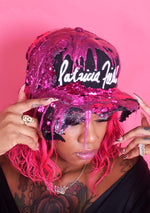 Customized Drip Patricia Field Snapback Cap - Magenta