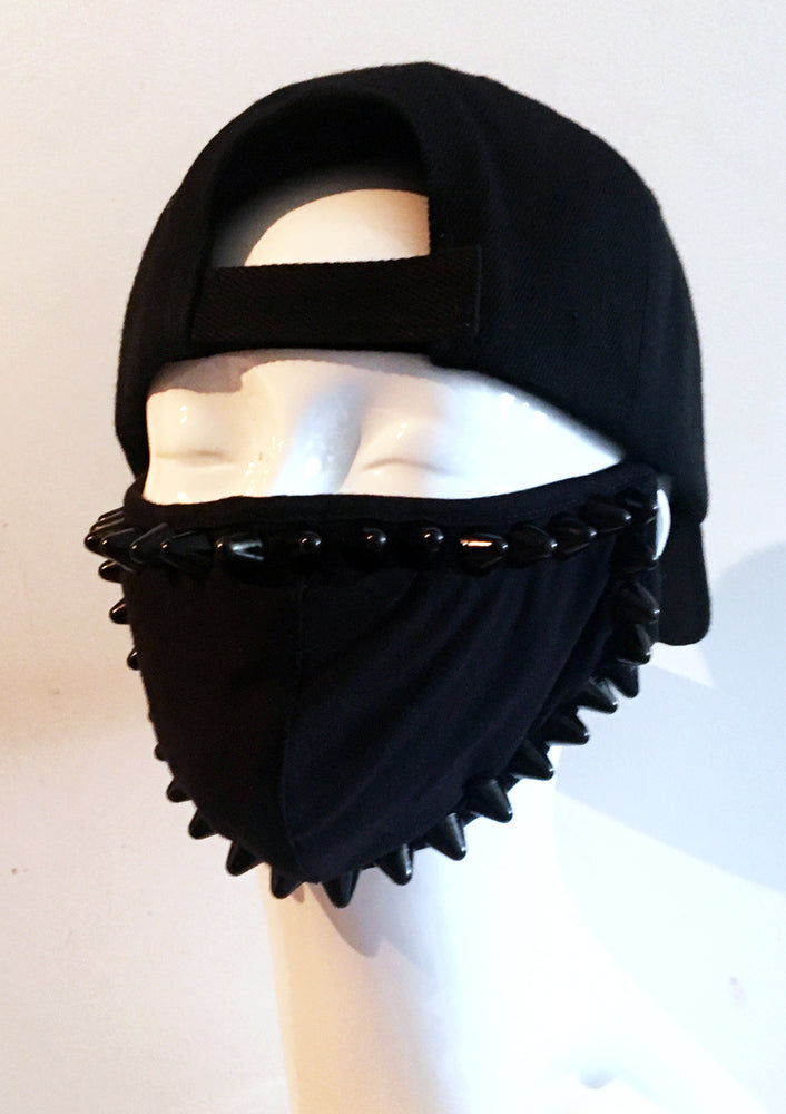 Black Studded Face Mask