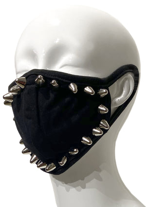 Silver Studded Face Mask