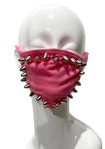 Pink Studded Face Mask