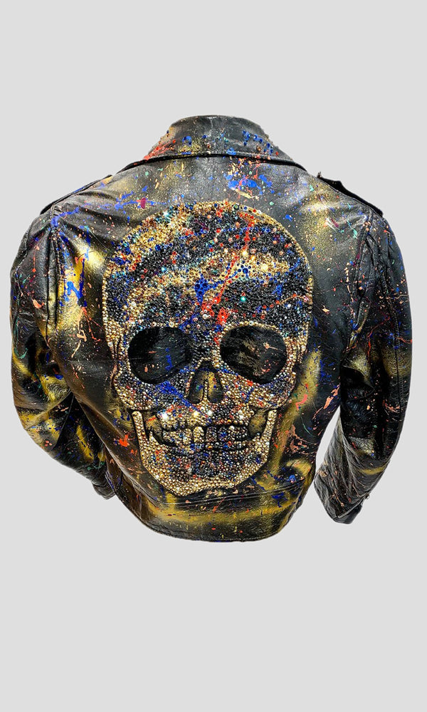 Vintage Leather Skull Jacket