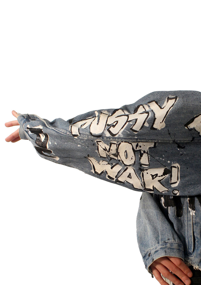 PUSSY NOT WAR Denim Jacket