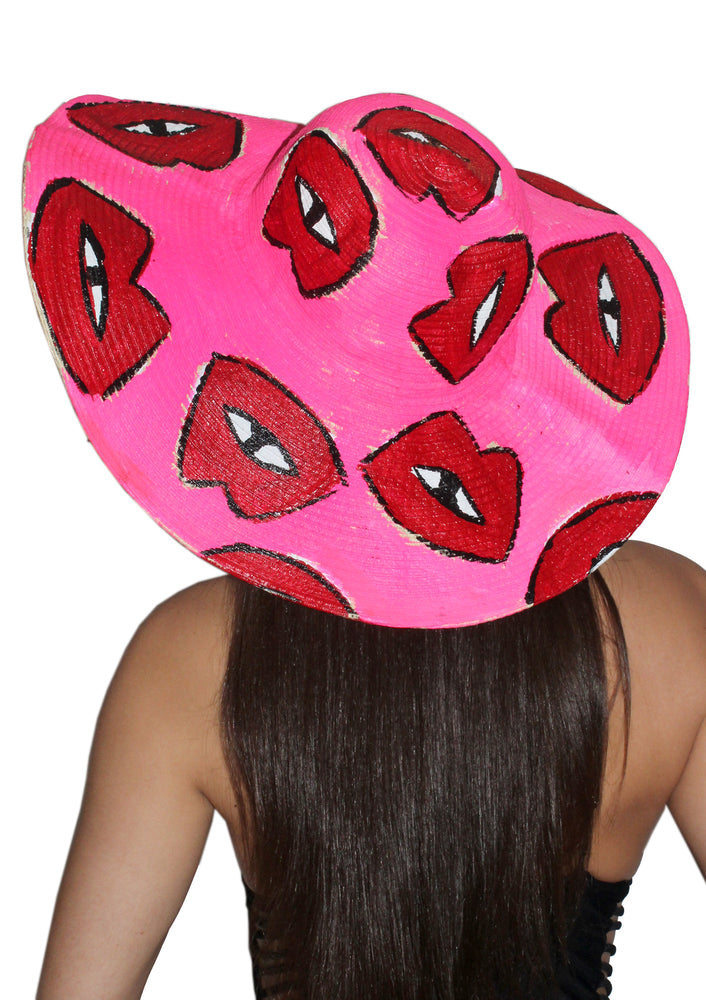 Signature Lips Wide Brim Hat