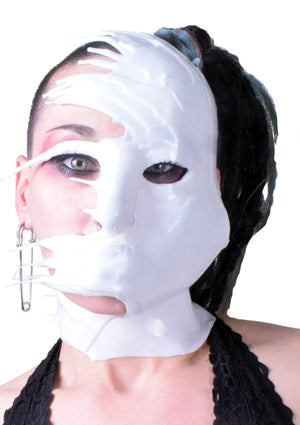 HalfFace DRIP Liquid Metal Silicone Mask - Phantom White
