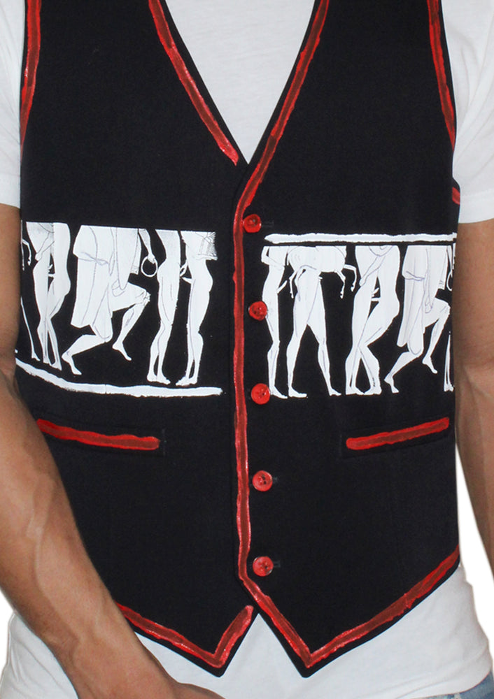 Greek Orgy Outline Vest