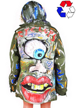 'CYCLOPS' Painted Army Parka
