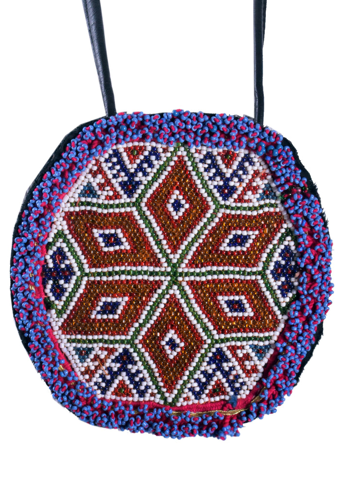 XL Beaded Octagon Disc Necklace