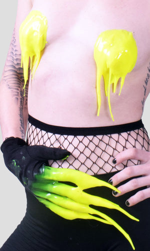 Silicone Glove Set - Day-glow Yellow
