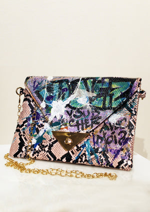 ZOOM Graffiti Envelope Clutch - The Bowery