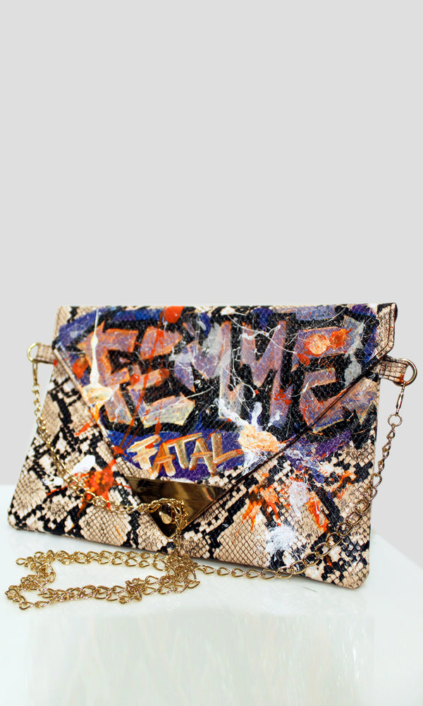ZOOM Graffiti Envelope Clutch - Staten Island