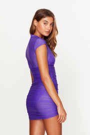 Ruched Beach Dress Violet