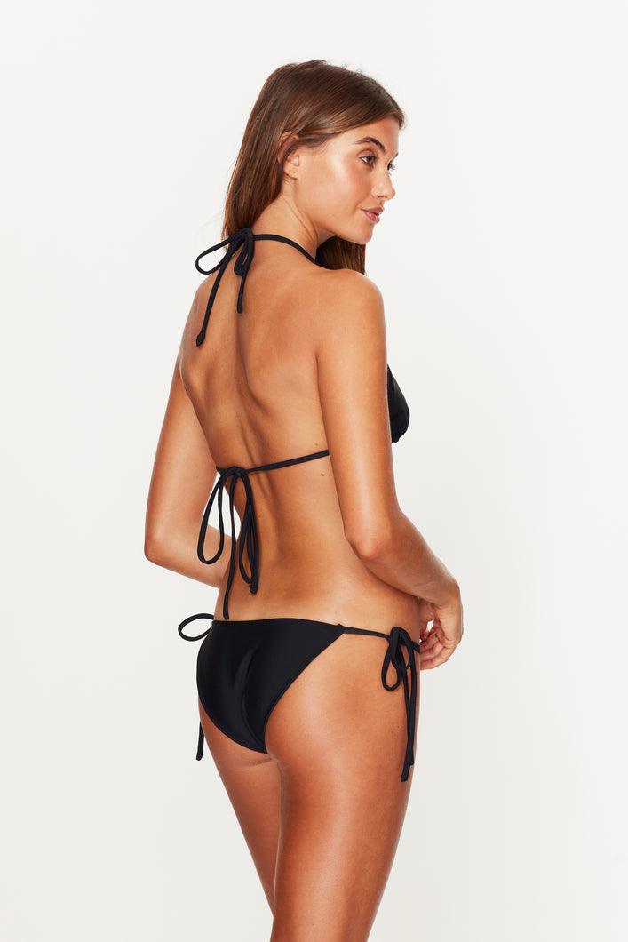 Triangle Tie Side Bottoms Black