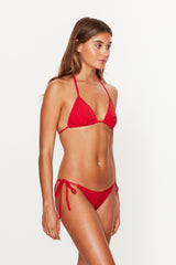 Red Triangle Tie Side Bottoms