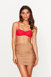 Gold Ruched Beach Skirt
