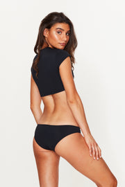 Black Low Rise Bikini Bottoms