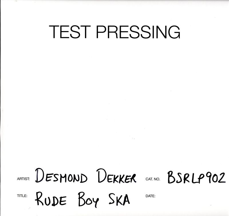 Desmond Dekker - Rude Boy Ska - Vinyl LP Test Pressing