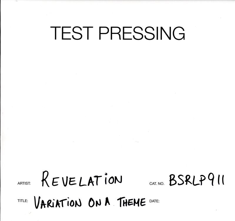 Revelation - Variation On A Theme - Vinyl LP Test Pressing