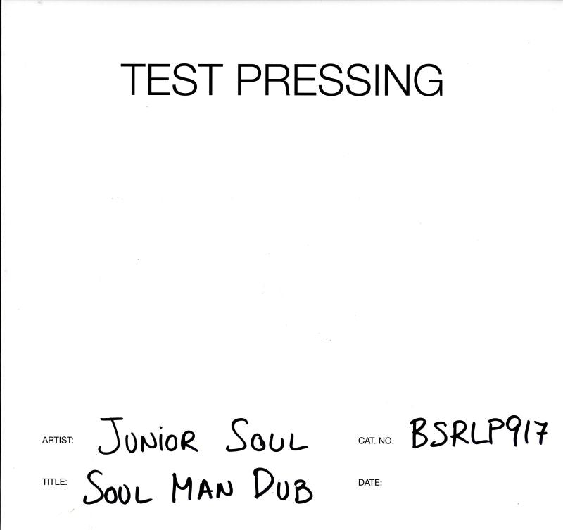 Junior Soul - Soul Man Dub - Vinyl LP Test Pressing