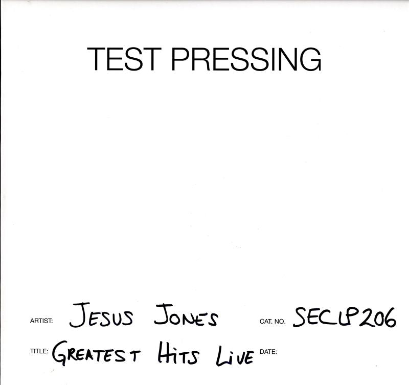 Jesus Jones - Greatest Hits Live - Vinyl LP Test Pressing