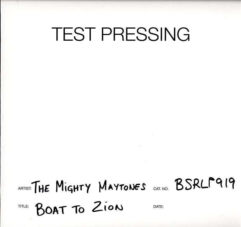 The Mighty Maytones - Boat To Zion - Vinyl LP Test Pressing