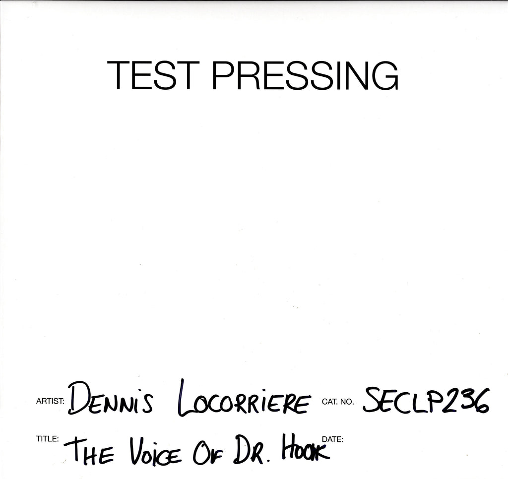 The Voice Of Dr. Hook - Dennis Locorriere - Vinyl LP Test Pressing