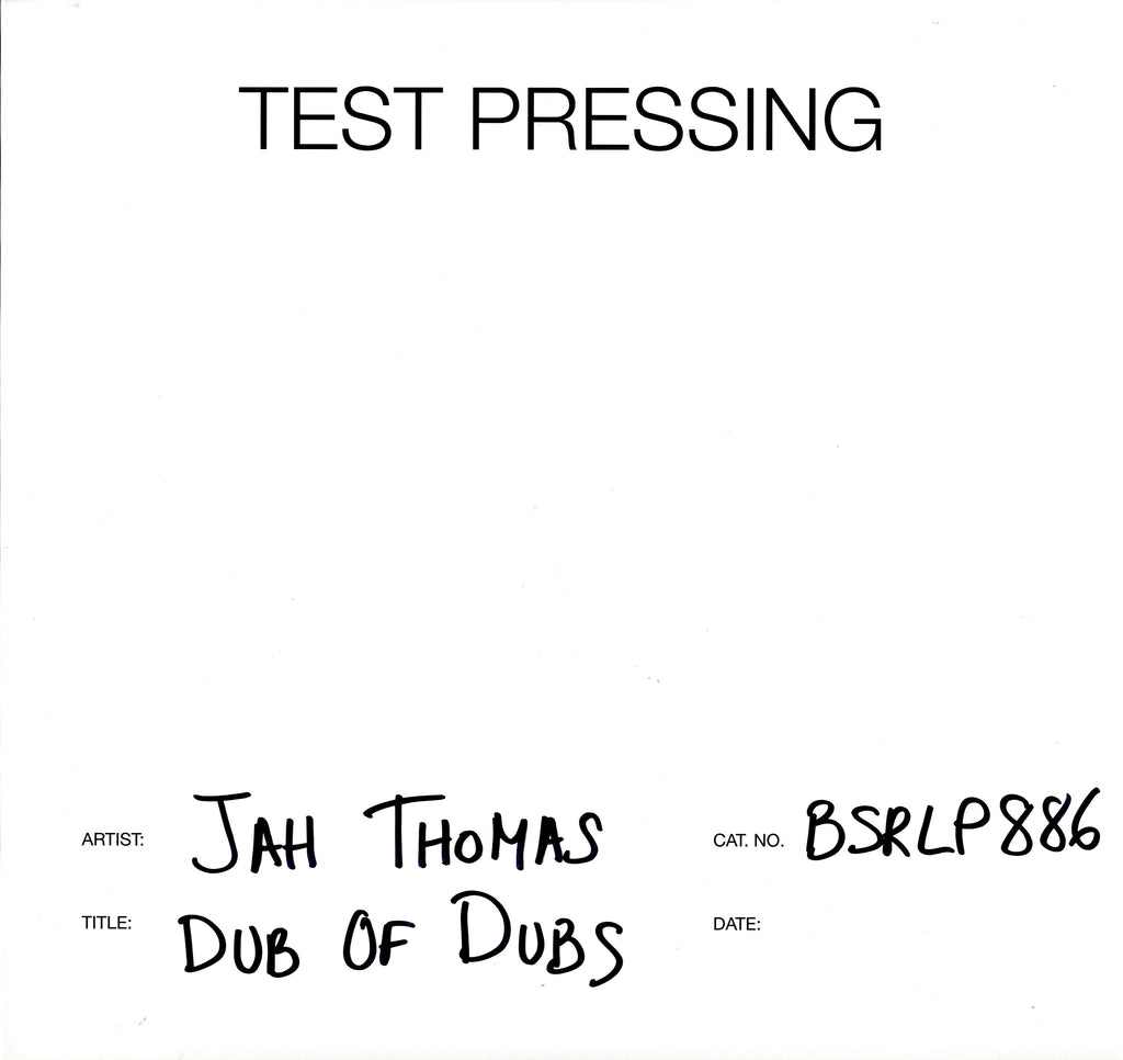 Jah Thomas - Dub Of Dubs - Vinyl LP Test Pressing