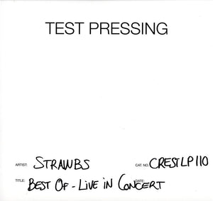 Strawbs - Best Of - Live In Concert - Vinyl LP Test Pressing
