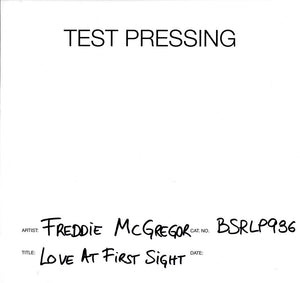 Freddie McGregor - Love At First Sight - Vinyl LP Test Pressing
