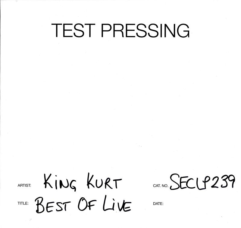 King Kurt - Best Of Live - Vinyl LP Test Pressing