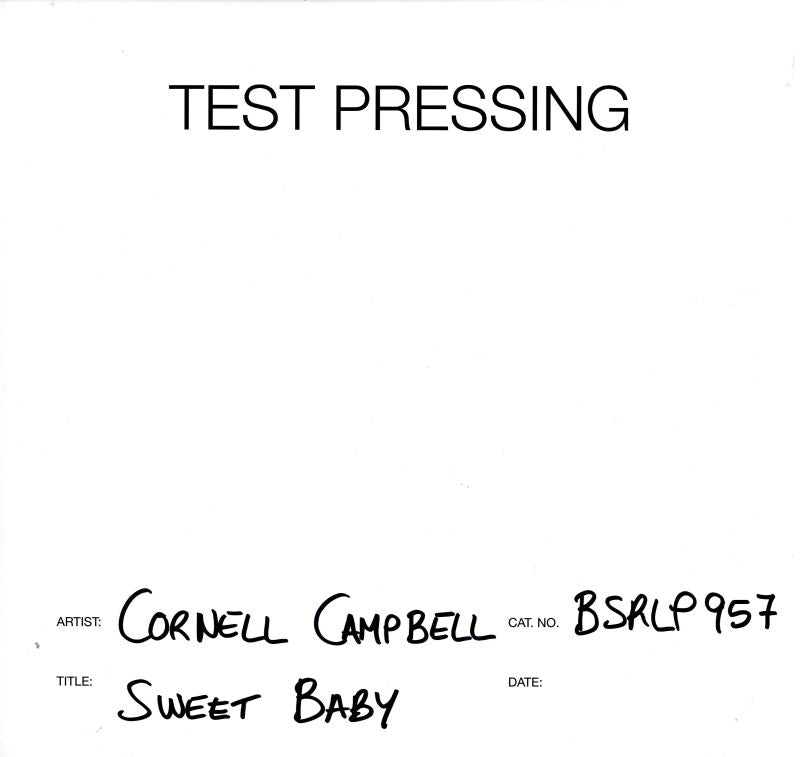 Cornell Campbell - Sweet Baby - Vinyl LP Test Pressing