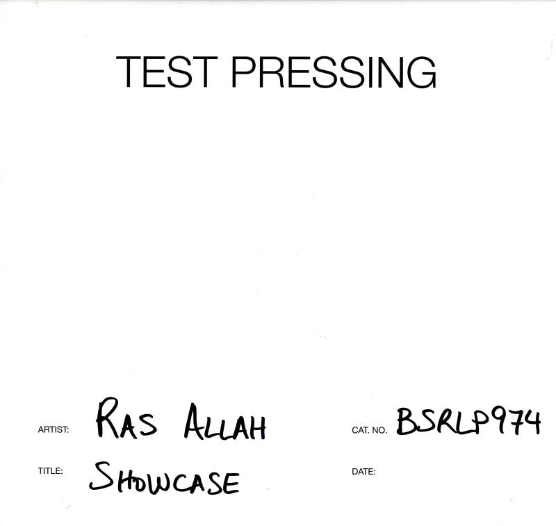 Ras Allah - Showcase - Vinyl LP Test Pressing