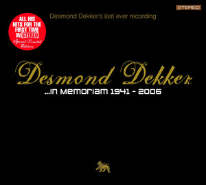 Desmond Dekker - In Memoriam 1941 - CD Album - Secret Records Limited