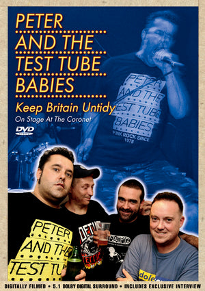Peter And The Test Tube Babies - Keep Britain Untidy - DVD - Secret Records Limited