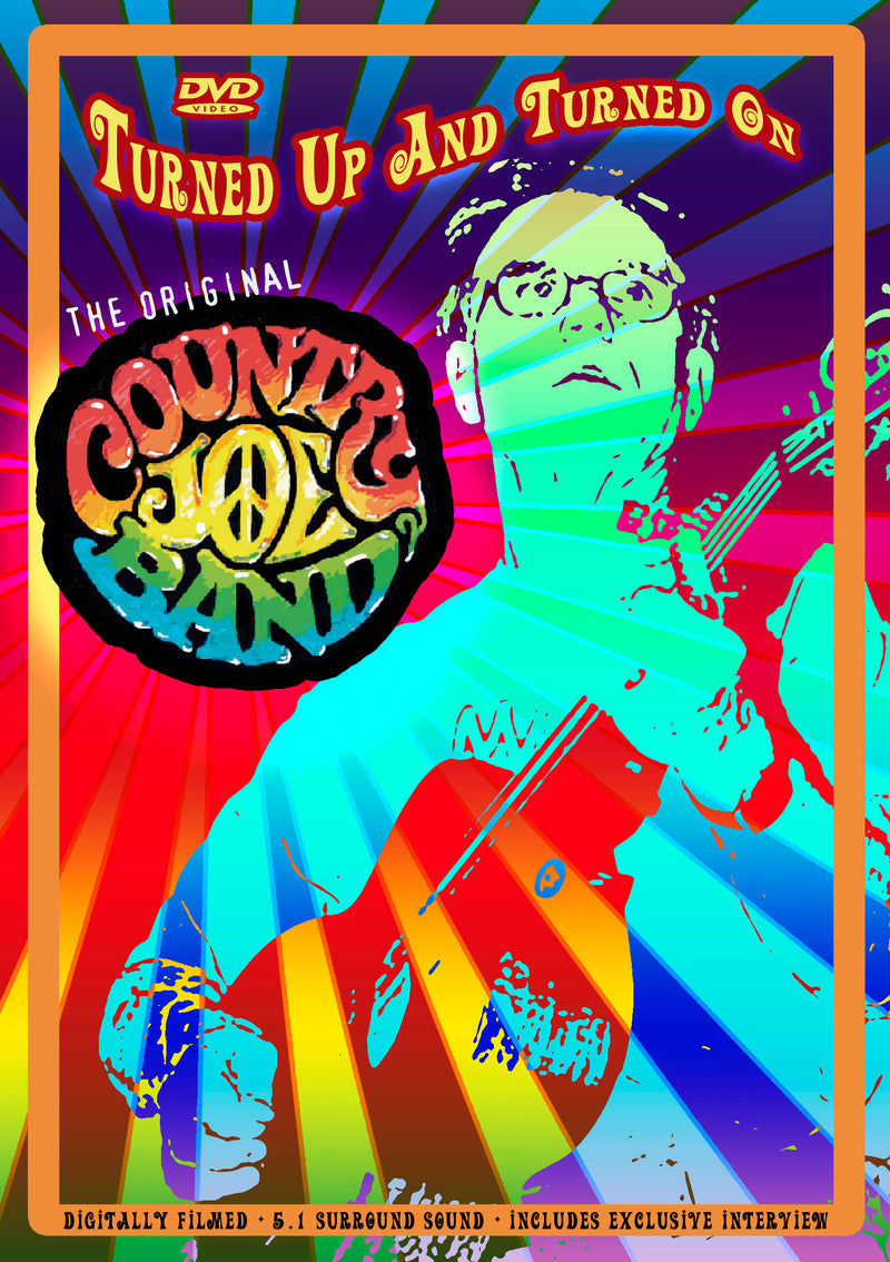 Country Joe Band - Turned Up And Turned On - DVD - Secret Records Limited