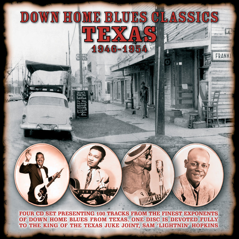 Various - Down Home Blues Classics - Volume 2 Texas - 4CD Album - Secret Records Limited