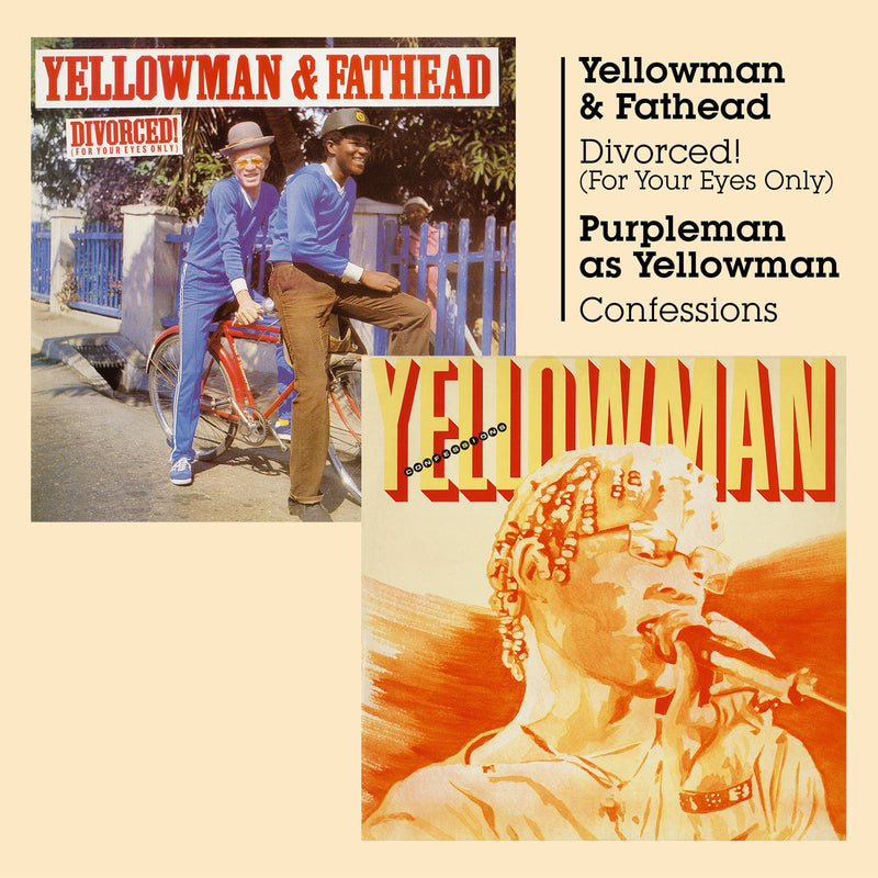 Yellowman & Fathead + Purpleman As Yellowman - Divorced! (For Your Eyes Only) + Confessions - CD Album - Secret Records Limited