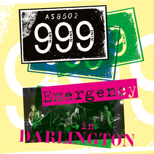 999 - Emergency In Darlington - CD+DVD Album - Secret Records Limited