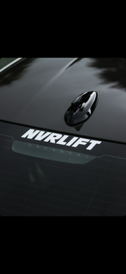 White Nvrlift Vinyl Stickers