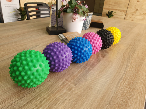 Allcare Spikey Massage Ball 9.5cm Blue