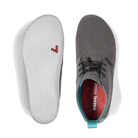 Vivobarefoot Gobi II Mens Dark Gull Grey Canvas