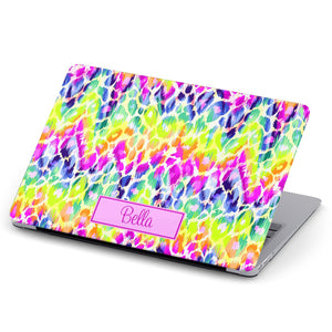 Animal Print Monogram MacBook Case 275