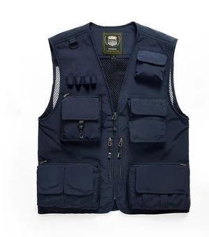 Lightweight Mesh Fabric Vest With 16 Pockets