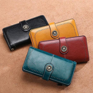 RFID Luxury Women Leather Wallet - 💥BUY 1 GET 2