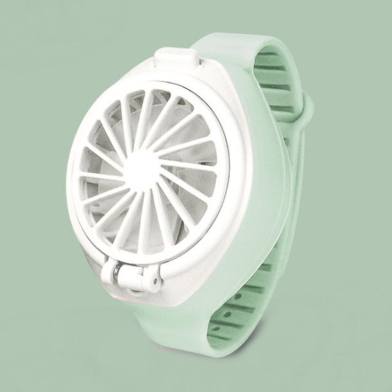 Portable and Rechargeable Mini Watch Fan, with USB Charging, Three Speed, Silicon Band, and Rotatable Design, Best Solution for Hot Summer