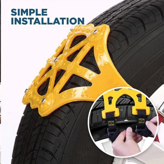 Best Ice-Breaker! Super Easy On&Off Tire Snow Chains
