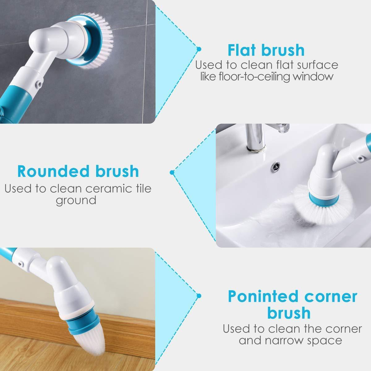 Electric Power Cleaning Scrubber with Extension Handle - 💥40% OFF - New Year Promotion